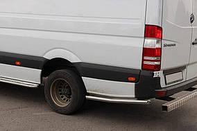 Бічні труби за заднім колесом (2 шт., нерж) Середня база, 70мм Volkswagen Crafter 2017↗ рр.