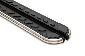 Ford Ecosport Бічні пороги Maydos V1 (2 шт., алюміній)