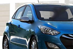 Hyundai I-30 2012-2017 рр. Накладки на дзеркала без поворотника (2 шт., нерж.) OmsaLine - Італійська нержавійка