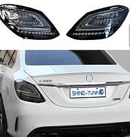 Задні ліхтарі Black (2 шт) Mercedes C-сlass W205 2014-2021 рр.