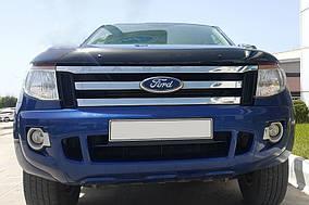 Ford Ranger 2011↗ гг. Дефлектор капота EuroCap (2011-2015)