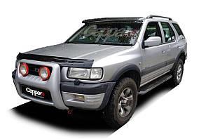 Opel Frontera 1991-1998 Козирок на лобове скло (чорний глянець, 5мм)