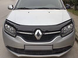 Дефлектор капоту (EuroCap) Renault Logan III 2013↗ рр.