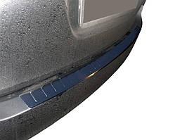 Skoda Superb 2009-2015 рр. Накладка на задній бампер Carmos (SW, нерж)