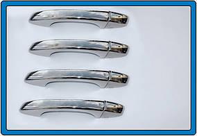 Seat Leon 2013↗ рр. Накладки на ручки (4 шт, нерж) Carmos -Турецька сталь