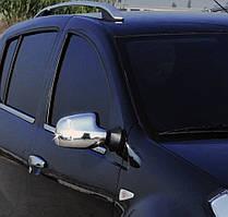 Nissan Terrano 2014↗ рр. Накладки на дзеркала варіант 2 (2 шт) Італійська нержавійка