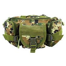 Сумка тактическая на пояс AOKALI Outdoor D05 6L Camouflage Green 5369-16935, КОД: 2404165