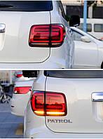 Nissan Patrol Y62 2010↗ рр. Задні ліхтарі LED RED-Sequential (2 шт)