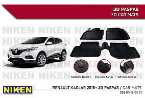 Гумові килимки (4 шт, Niken 3D) Renault Kadjar