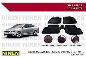 Skoda Octavia I Tour A4 1996-2010 Гумові килимки (4 шт, Niken 3D)