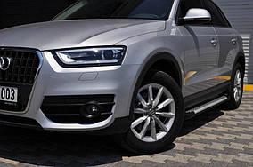 Opel Combo 2019↗ рр. Бічні пороги Allmond Grey (2 шт., алюміній)