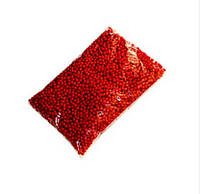Акрилові намистини 6 мм Червоні Упаковка 50 гр/475 шт