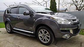Opel Combo 2019↗ рр. Бічні пороги Bosphorus Grey (2 шт., алюміній)