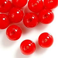 Бусины Акриловые 10 мм Красные Упаковка 50 гр/100 шт
