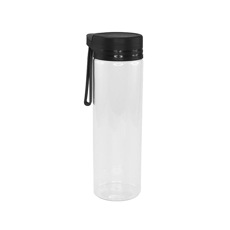 Пляшка для воды Bergamo AQUA, тританова, 620 мл (чорний)