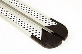 Kia Niro 2016↗ рр. Бічні пороги New Vision Grey (2 шт., алюміній)