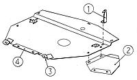Металлическая защита двигателя (картера) Audi A4 B6 (2000-2004) (V- 1,6; 2,0; 1,9TDi (окрім 1,8Т))