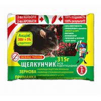 Щелкунчик зерновая приманка от крыс и мышей арахис и сыр 315 г, Агромаг