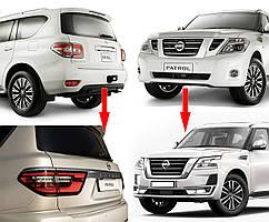 Nissan Patrol Y62 2010↗ рр. Комплект рестайлінгу в 2020 рік (рестайлинг)