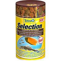Корм для аквариумных рыб Tetra Selection 100 мл, 4 в 1 (чипсы, гранулы, таблетки)