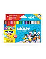 """Пастель маслянная """"MICKEY"""" в пластиковом контейнере, 12 цветов, тм Colorino"""