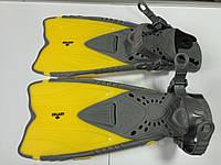 Ласты ZL желто-серые детские