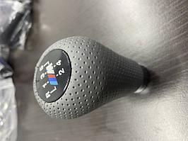 BMW 3 серія E-36 1990-2000 рр. Ручка КПП ОЕМ (кожзам, сіра перфорація)