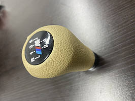 BMW 5 серія E-34 1988-1995 рр. Ручка КПП ОЕМ (кожзам, бежева гладка)