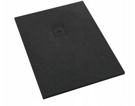 Піддон для душу Schedpol Schedline PROTOS Black Stone 100x80 см, фото 2