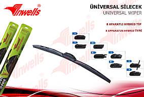Різне (аксесуари) Щітки склоочисників Invels Hybryd (8 типів кріплень) 430 мм