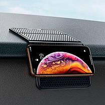 Подставка держатель универсальная для телефона антискользящий силиконовый коврик в авто Baseus, фото 3