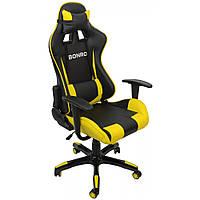 Кресло геймерское Bonro 2018 желтое игровое офисное компьютерное раскладное профессиональное