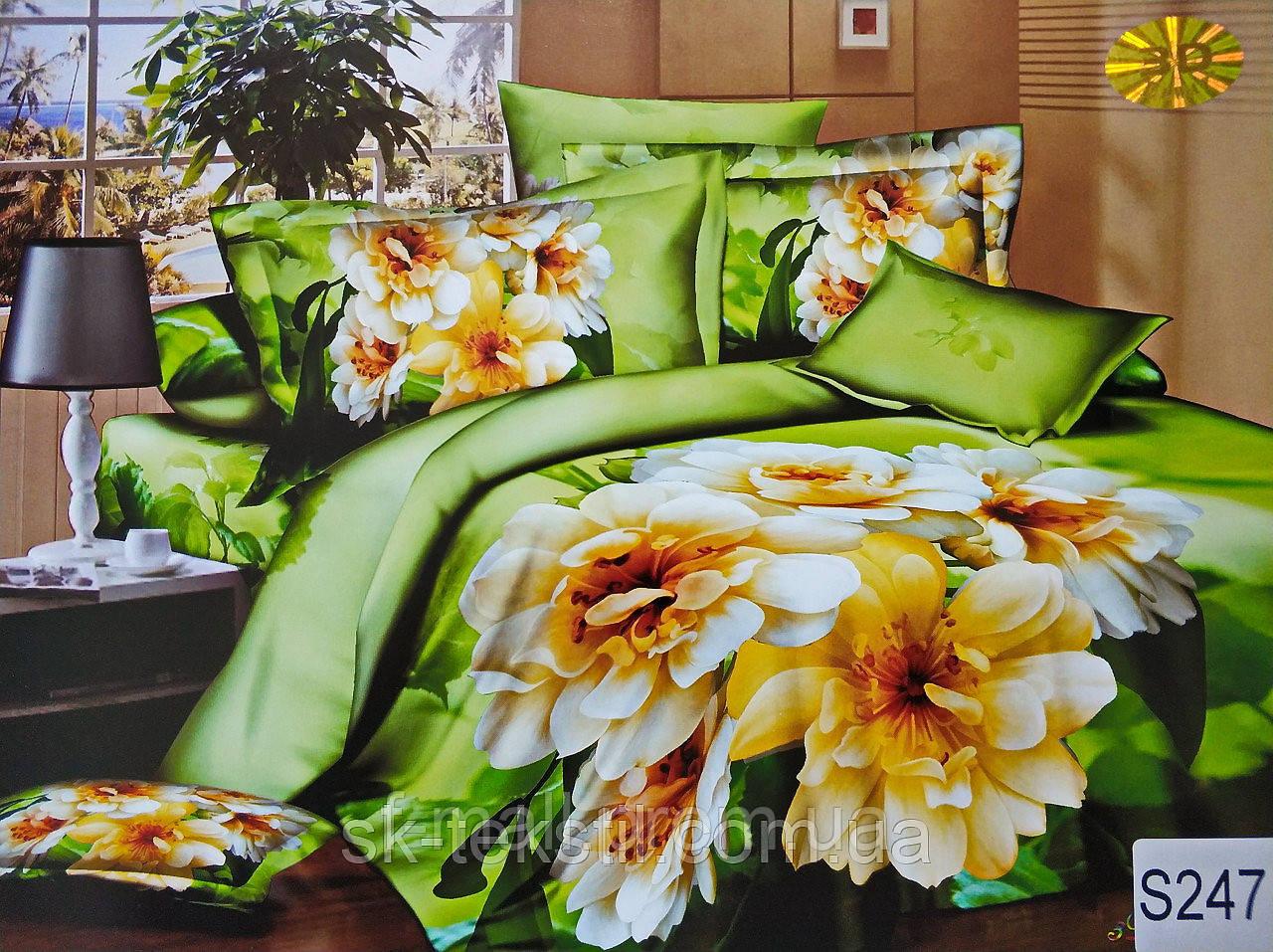Комплект постельного белья ELWAY (Польша) 3D LUX Сатин Евро Подарочная упаковка (247)