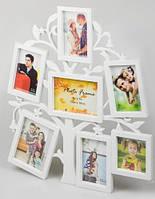 Фотоколлаж семейное дерево 7 рамок (50х40х3 см)