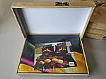 Комплект постельного белья ELWAY (Польша) 3D LUX Сатин Евро Подарочная упаковка (272), фото 3