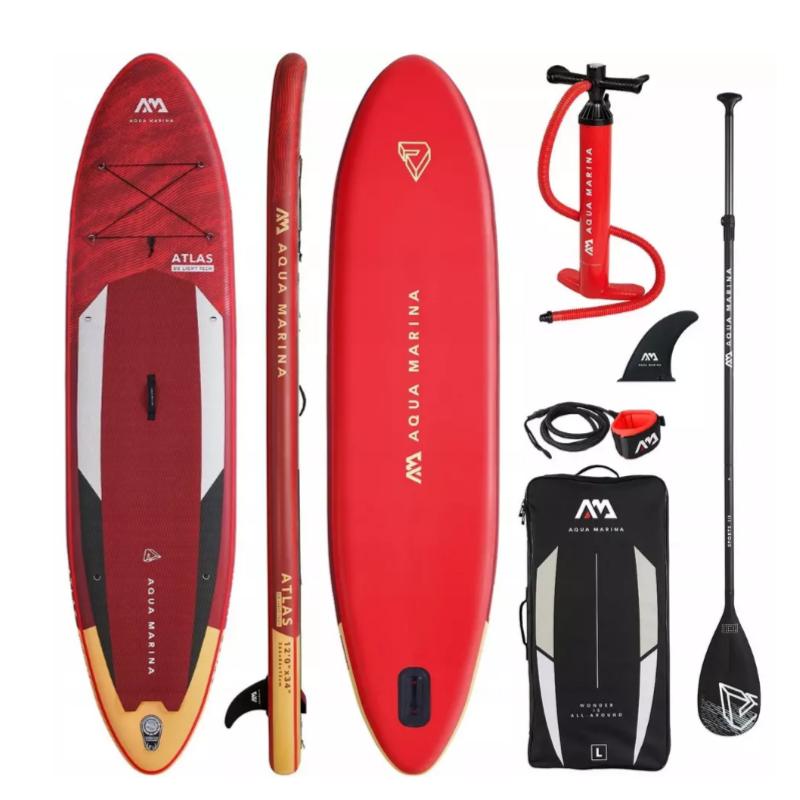 Сапборд Aqua Marina Atlas Advanced 12'0 2021 - надувная доска для САП сёрфинга, sup board