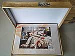 Комплект постельного белья ELWAY (Польша) 3D LUX Сатин Евро Подарочная упаковка (273), фото 3