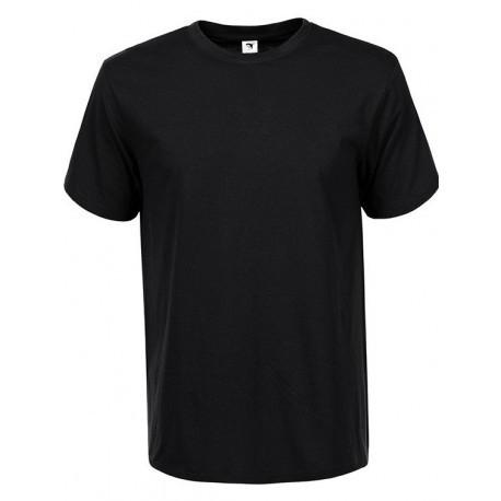 Мужская черная однотонная футболка в большом размере