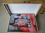 Комплект постельного белья ELWAY (Польша) 3D LUX Сатин Евро Подарочная упаковка (275), фото 3