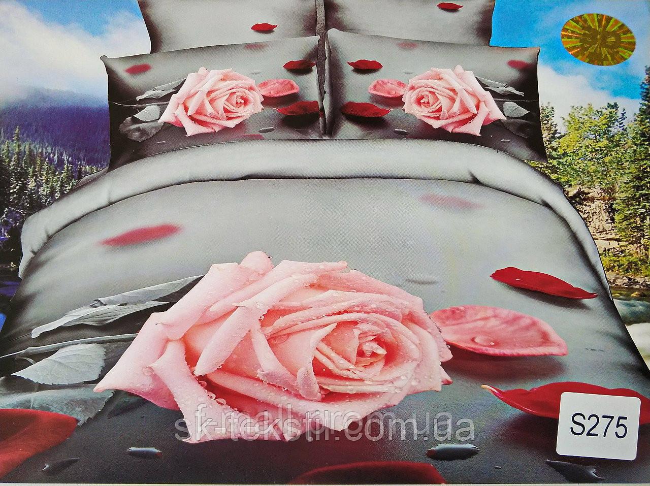 Комплект постельного белья ELWAY (Польша) 3D LUX Сатин Евро Подарочная упаковка (275)