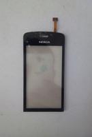 Тачскрин / сенсор (сенсорное стекло) для Nokia C5-03 | C5-06 (черный цвет, самоклейка)