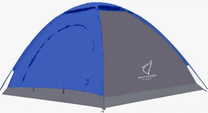 Палатка двухместная однослойная для кемпинга Wolf Leader P115 Синий