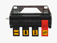 Пневматическая система пульт управления для гидравлики из кабины (четырехсекционный)
