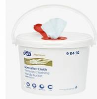 Безворсовый нетканный материал в ведре для дезинфекции помещений. (В комплекте 1 ведро + 1 рулон). (90492).