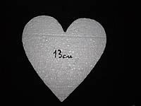 Пенопластовое сердце резное 13см