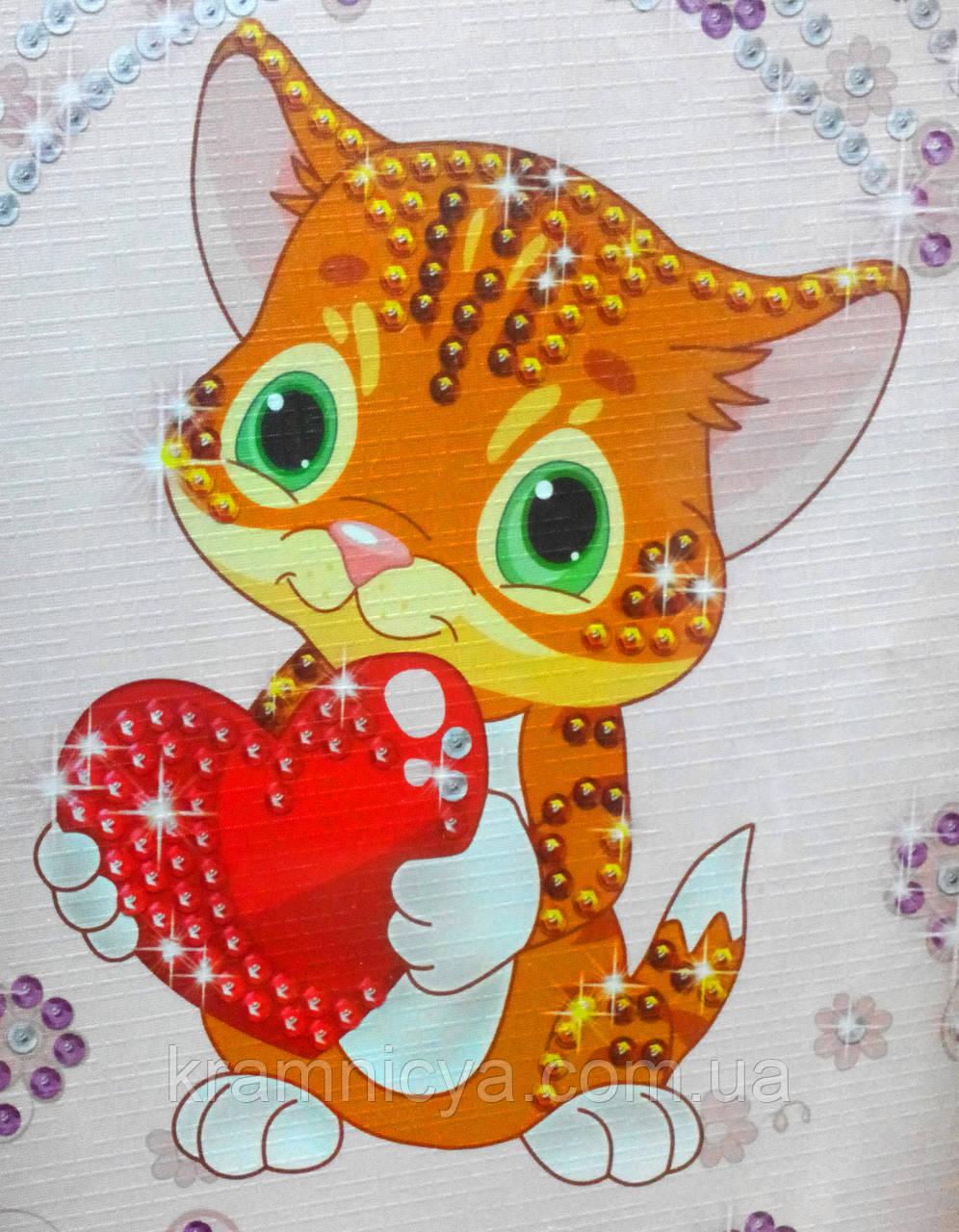 Картина из пайеток Котёнок (Пм-04-10)