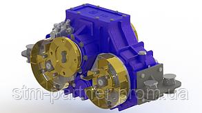 Сплит вал (Split shaft) отбора мощности (редуктор) горизонтальный для ассенизатора и другой спецтехники