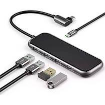 HUB адаптер BASEUS Multi-functional Type-C to 4 USB3.0+Type-C PD перехідник хаб, фото 2