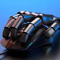 Игровая компьютерная мышь USB с RGB подсветкой XO M4 черная, геймерская, проводная для компьютера, фото 3