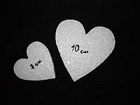 Пенопластовое сердце резное 7см